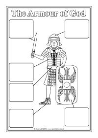 The Armour of God Labelling and Colouring Sheets (SB11653