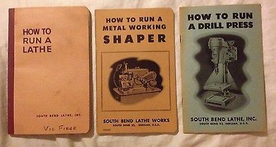 South Bend Lathe 3 How To Books Run A Lathe Drill Press Metal Shaper  1954 58 63  | eBay