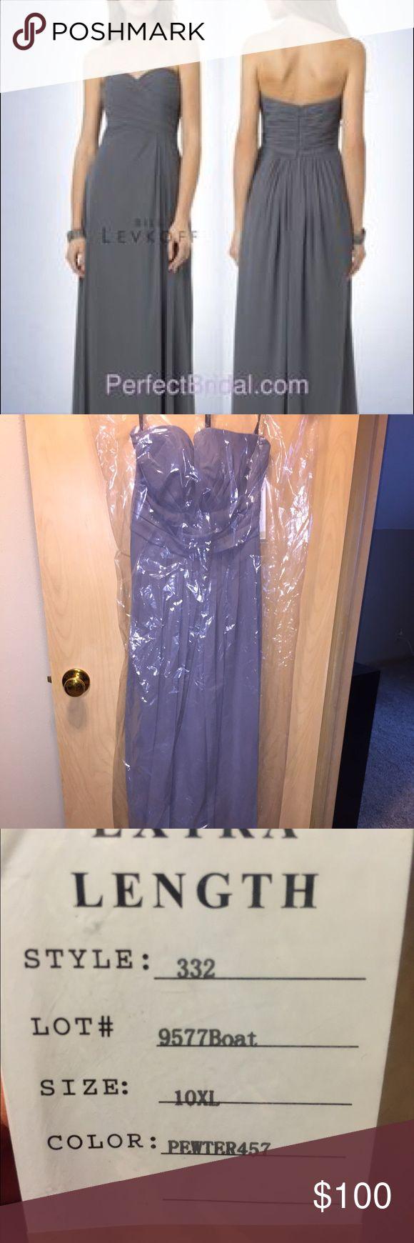 Bill Levkoff pewter bridesmaid dress Never worn! Wedding was canceled, size 10 with extra length Bill Levkoff Dresses Wedding