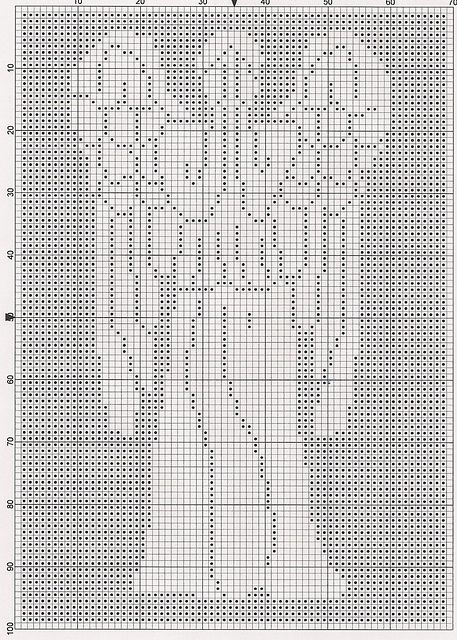 Ravelry: Dr. Who Weeping Angel Chart pattern by Elizabeth Harac. (I don't know what kind of craft this is, but I'm pinning it anyway…) (It looks like filet crochet to me.)