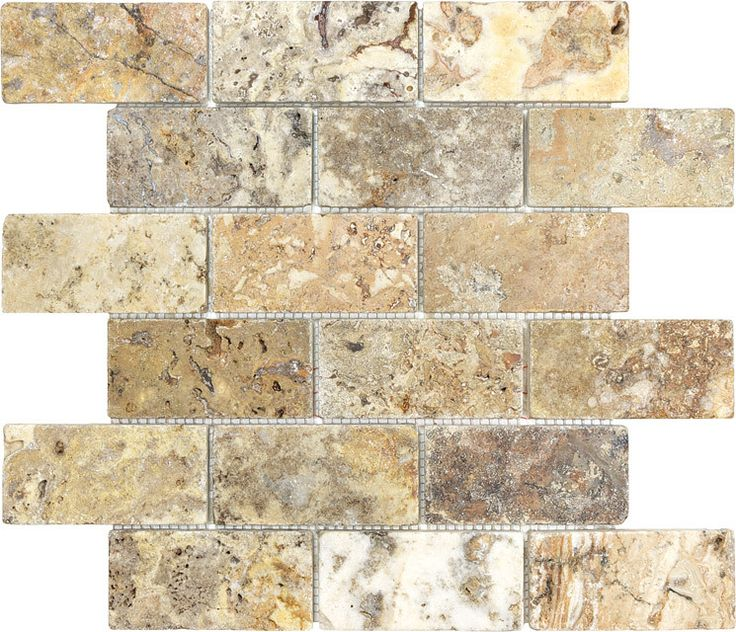 17 best ideas about travertine tile backsplash on for Tumbled glass tile