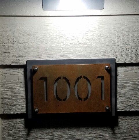 Rustic house numbers are easy to see at night as well!