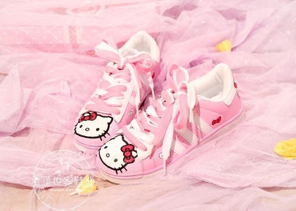 Japan cute round head Japanese flat shoes shoes cat students shoes shallow mouth belt running shoes shoes girls shoes