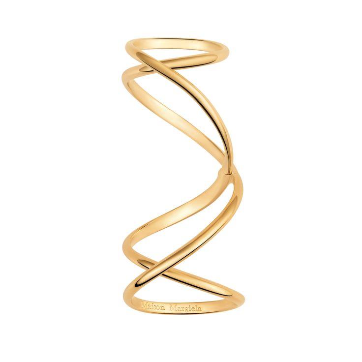 Twisted yellow Gold long ring - Maison Margiela