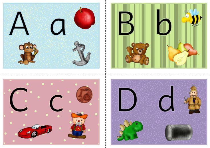 Bild Karten ABC, Alphabet, Anlaute, Laute, Anlaut, Bilder, Bildkarten, Deutsch, Klasse 1, Vorschule
