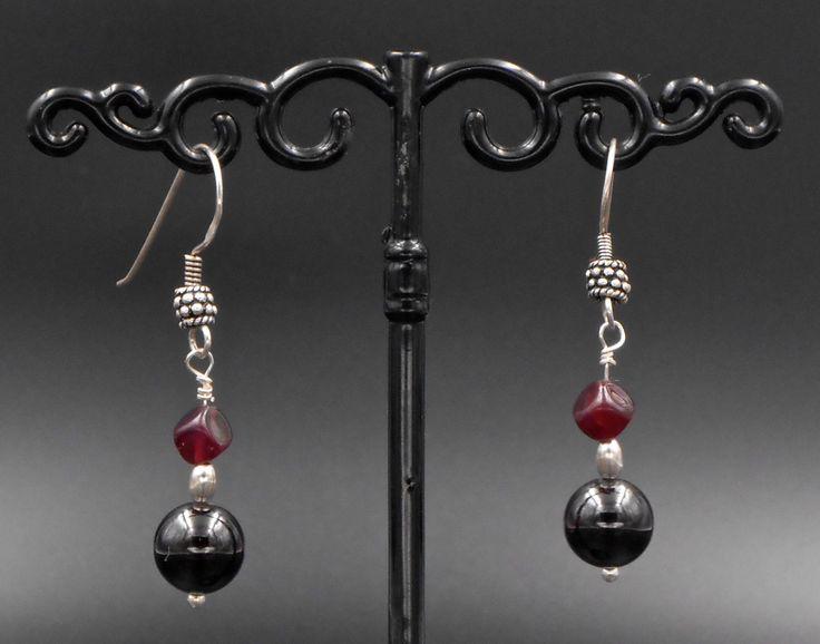 Boucles d'oreilles, argent 925,pierre naturelle grenat, rouge, élégance, cadeau de la boutique SUINDARA sur Etsy