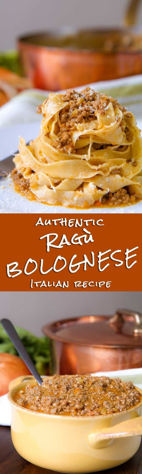 "AUTHENTIC BOLOGNESE SAUCE (Ragù alla Bolognese) - Ragù alla Bolognese is one of the most important recipes of my own city, perhaps the most famous Italian dish in the world. Unfortunately, it is also the most mangling Italian recipe! The preparation of this great recipe is very easy, but needs time, right ingredients and a very good thick-bottomed heavy pot. Take your time and be prepared to taste something different than the ordinary ""Bolognese sauce""! - dinner recipes pasta lasagna family"