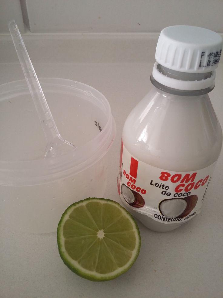 ALISAMENTO NATURAL COM APENAS DOIS INGREDIENTES. -  p/ cada 100 ml de leite de coco gelado, colocar 1 colher de sopa de caldo de limão gelado, misture bem e passa no cabelo e vai penteando, deixa 2 horas e lava normalmente