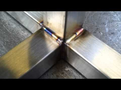 ▶ Stainless steel tig welding - YouTube  stainless steel box section 30mm thick welding and sink bowl into the top frame