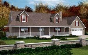 Custom Modular Homes - Cape cod 4613 2 bed 2 bath 1380 SQ. Lakewood Custom Homes