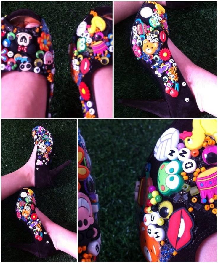 Zapatos para la pasarela colorado en eje moda 2013