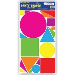 80s Party Shape Decals make with scrapbook paper