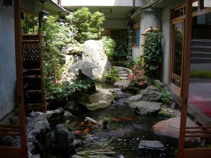 Awesome indoor garden design pictures ideas for modern for Indoor koi pond designs