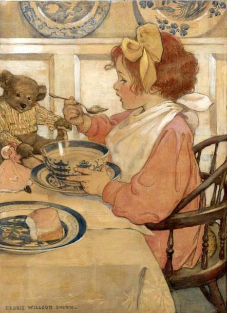 Then The Epicure (The Third Age)-Jessie Willcox Smith (1863 – 1935, American)