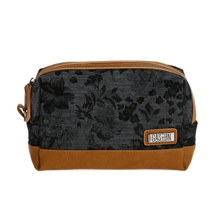 Trousse Jules #ridegaston #gaston #toiletkit #toiletbag #brown #black #fleurs #flowers www.ridegaston.com