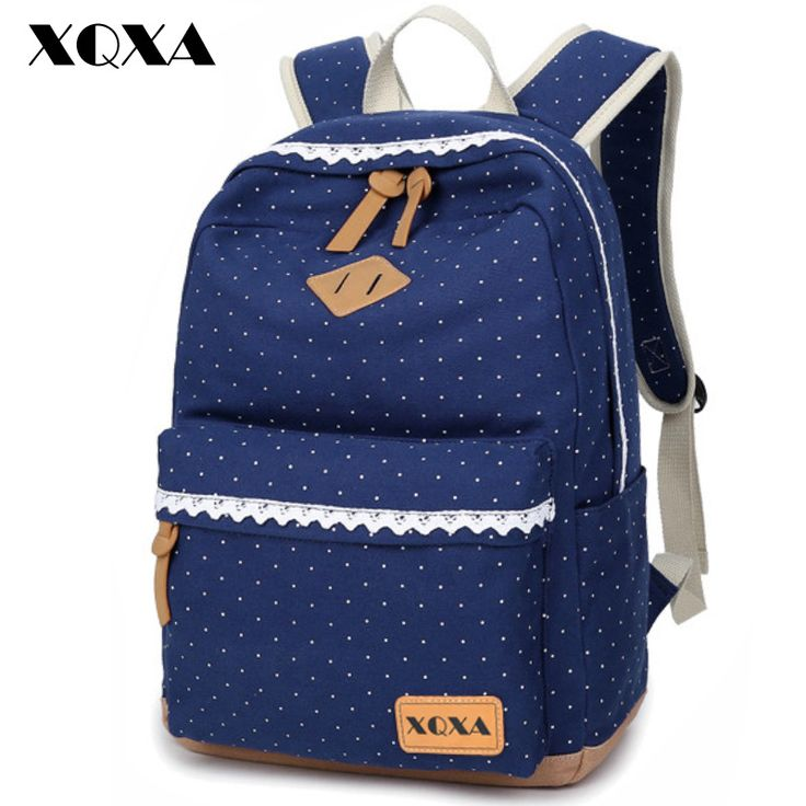 XQXA Ethnic Women Backpack for School Teenagers Girls Vintage Stylish Ladies Bag Backpack Female Dotted Printing High Quality *** Detailed information can be found by clicking on the VISIT button