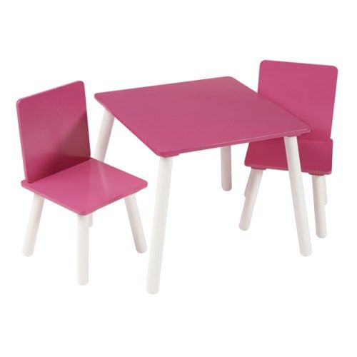 Kidsaw Blush Hot Pink Table and Chairs  http://furniture123.co.uk/kids-klub-blush-hot-pink-table-and-chairs_34369