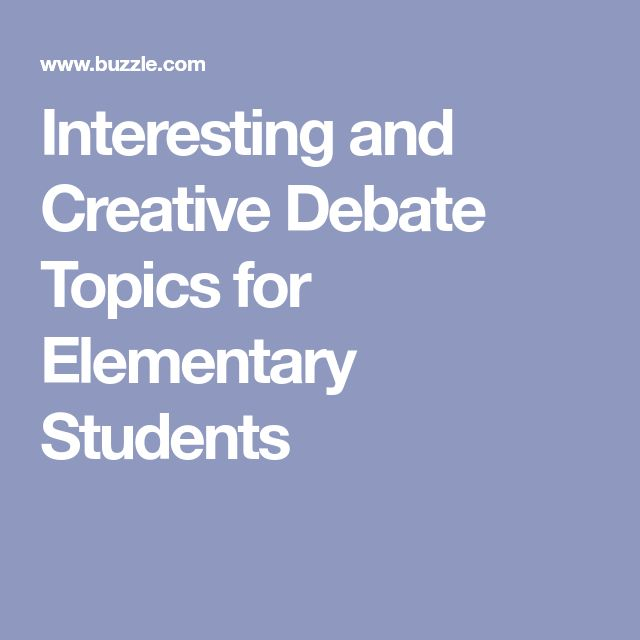 debate instructions for students
