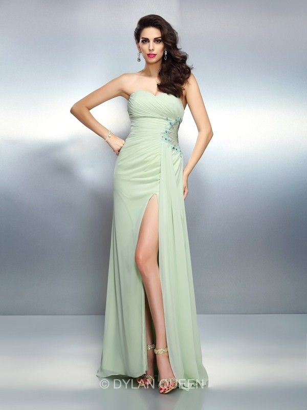 Sage long prom dresses via @dylanqueen