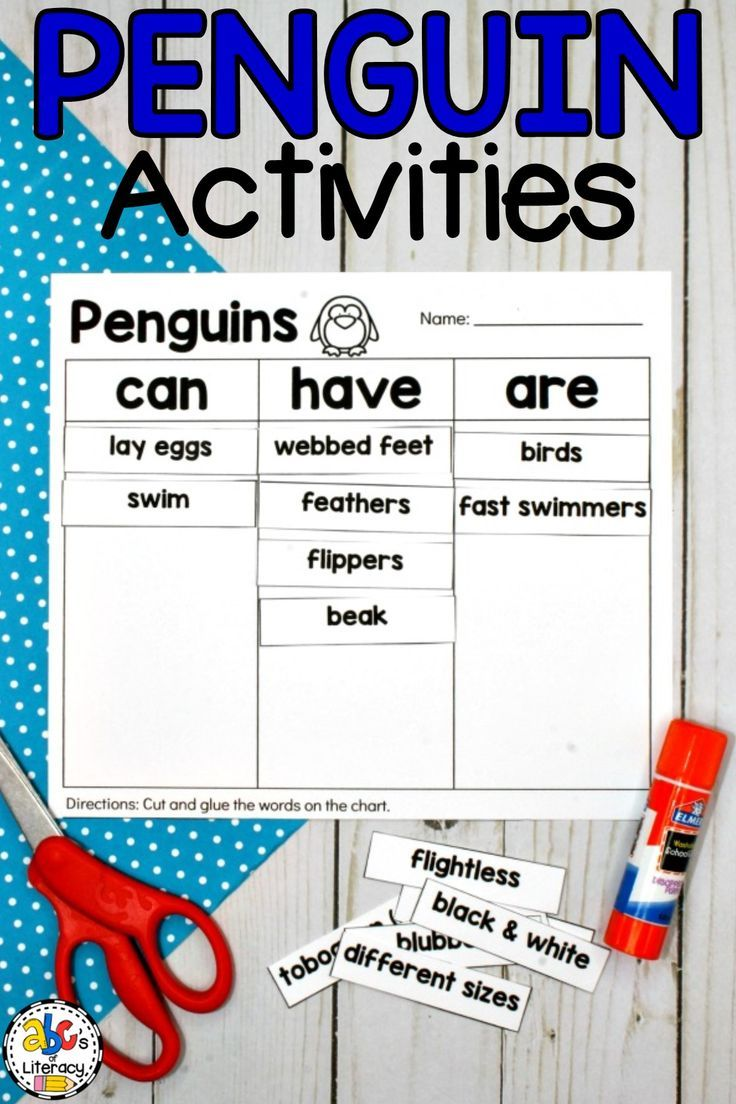 Are You Teaching Your Students All About Penguins This Packet Of Penguin Activities Is Elementary Science Activities Elementary Activities Penguin Activities