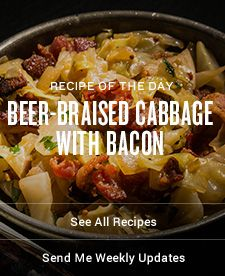 Beer-Braised Cabbage with Bacon Recipe | Traeger Wood Fired Grills