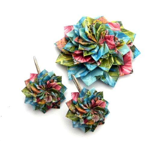ručne robené origami šperky, origami jewelry, handmade jewelry,