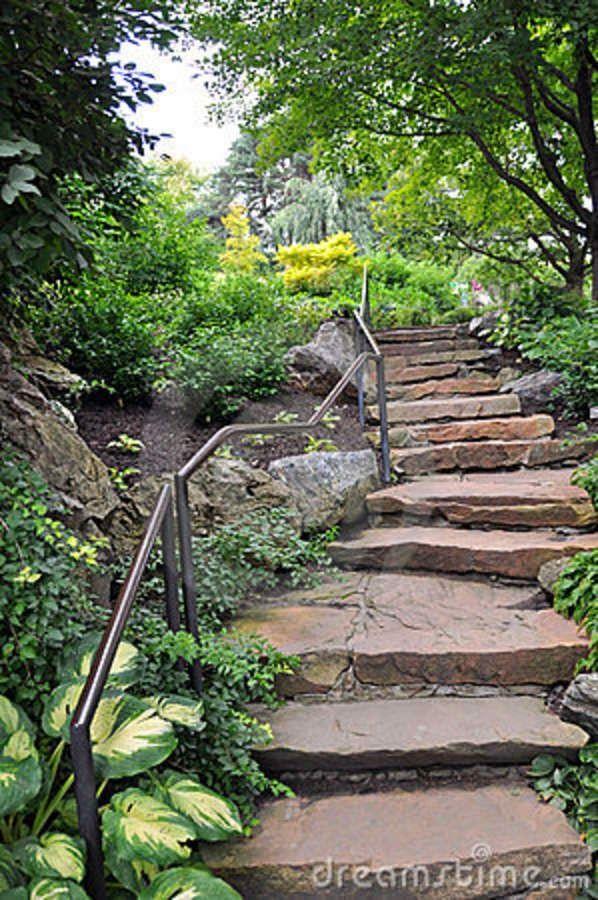 Terrenos em declive ou em desnível têm nas escadarias uma excelente solução que facilita a acessibilidade e embeleza o jardim.              ...