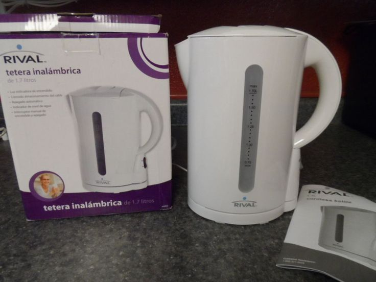 CORDLESS KETTLE 1.7 LITER.  RIVAL. NEW IN BOX #RIVAL