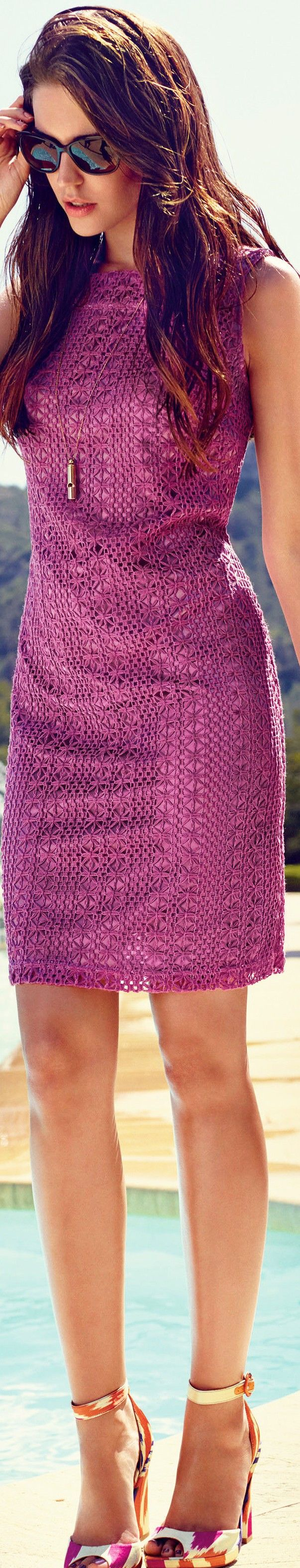 Example of Pantone Radiant Orchid for Spring and Fall 2014 fashion - article