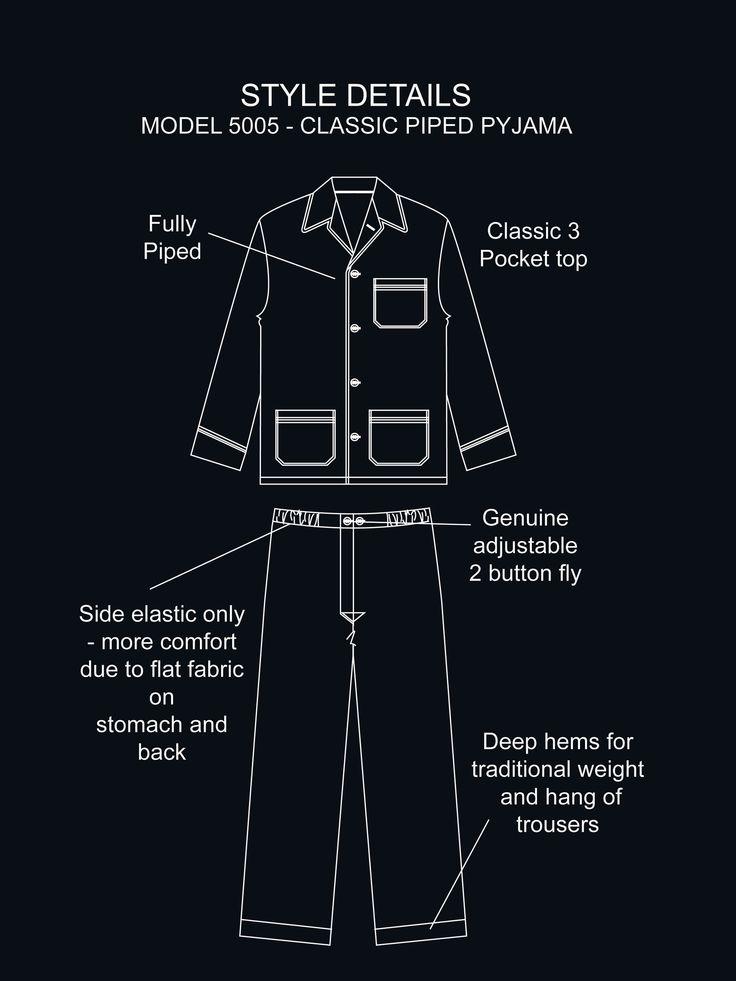 Derek Rose PJ's  James 1 Col C Pyjamas - Men's Pyjamas - Men's - Sleepwear   Derek Rose - The World's Finest Luxury Sleepwear