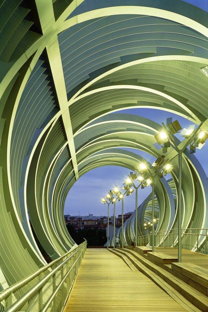 Arganzuela Footbridge: Madrid Spain, Perrault Architecture, Design Homes, Architecture Homes Design, Dominique Perrault, Modern Architecture, Installations Architecture, Bridge, Arganzuela Footbridg
