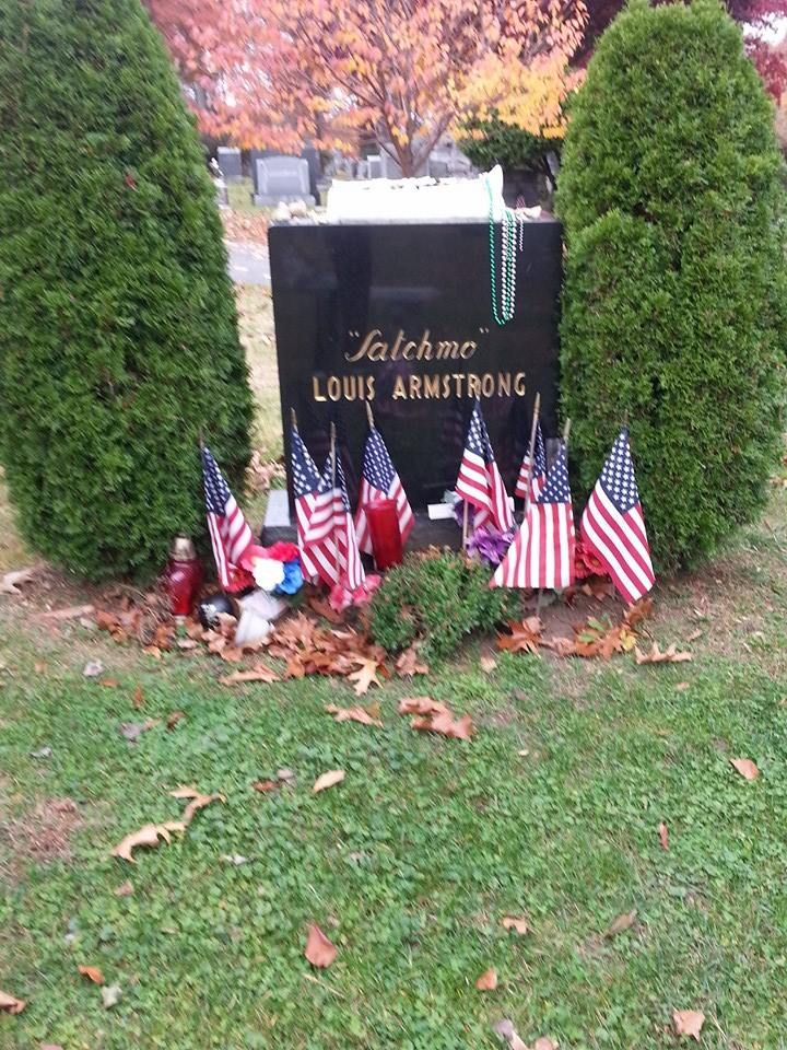 *...Lou Armstrong!.~*~. Flushing Cemetery, Queens, New York.~*~.