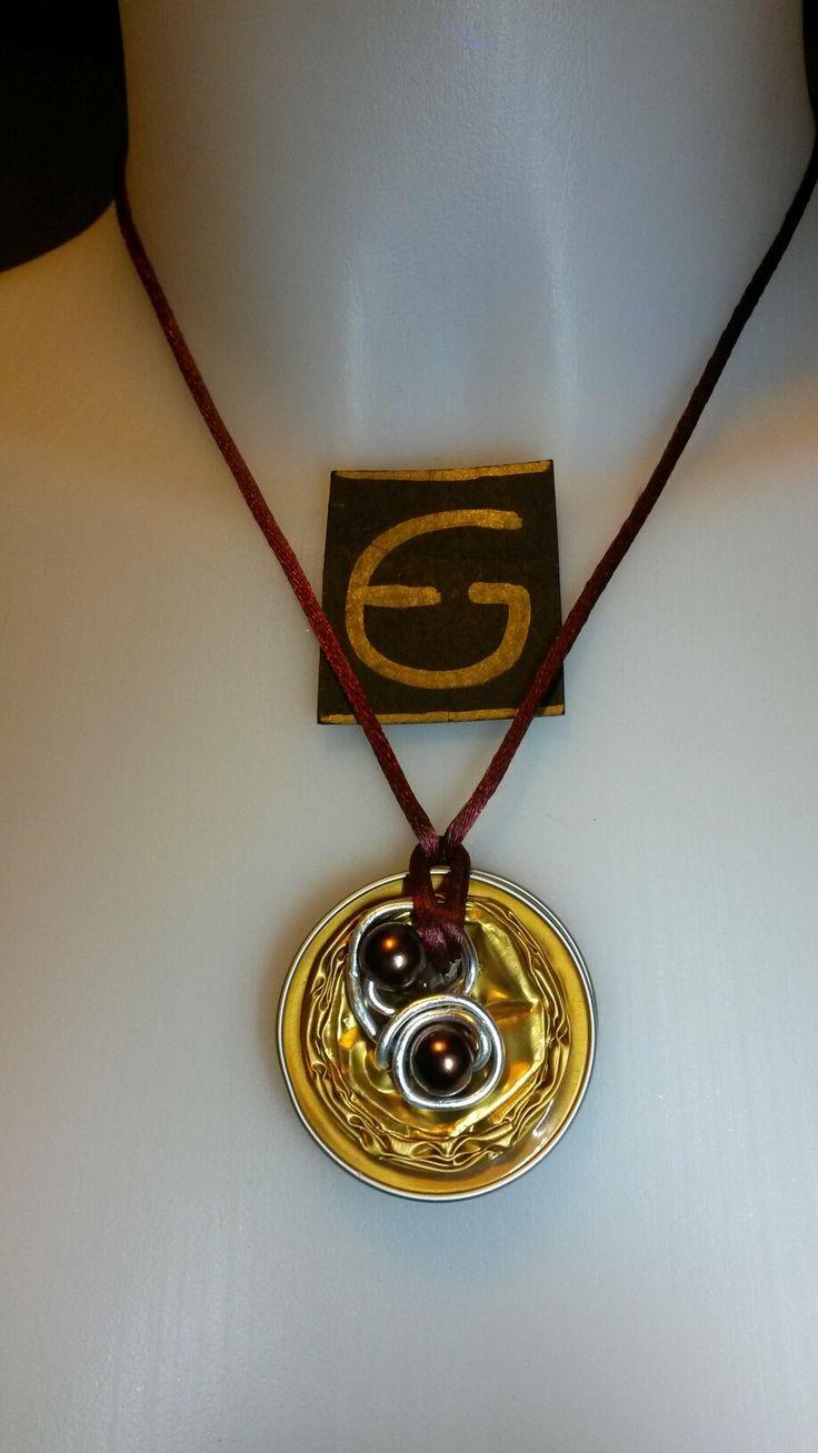 Collana creata con capsula Nespresso e perle  Necklace created with Nespresso capsule and pearls