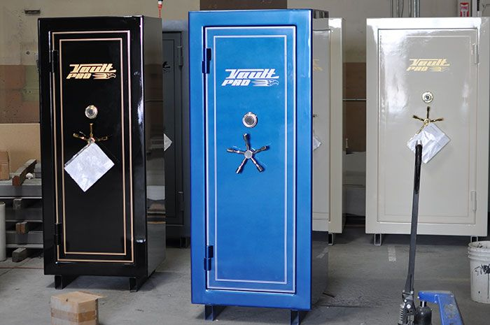 Ready Gun Safe : Safes ready for final inspection weighing and packing