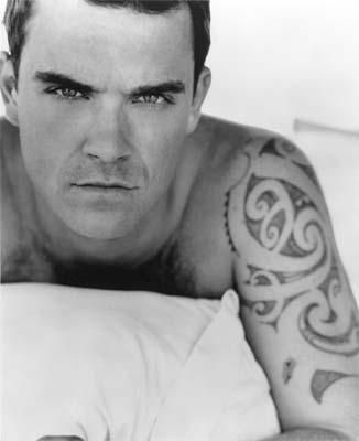 Robbie Williams and his lovely tattoos