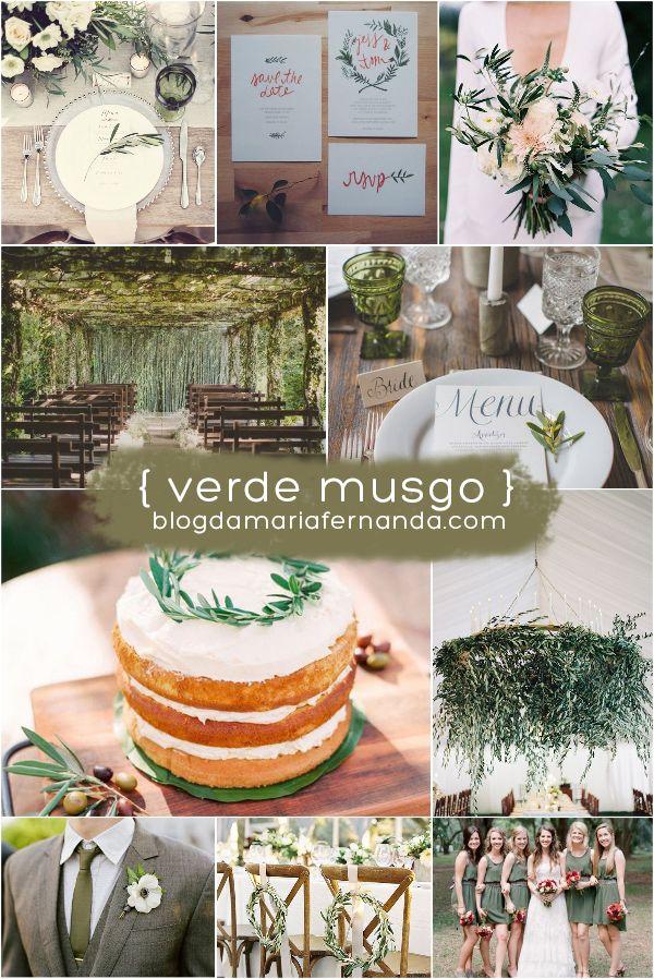 Decoração de Casamento : Paleta de Cores Verde Musgo | http://blogdamariafernanda.com/decoracao-de-casamento-paleta-de-cores-verde-musgo