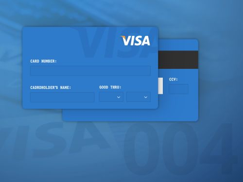 Day 4 - Its a credit card input today - Im not 100% satisfied...