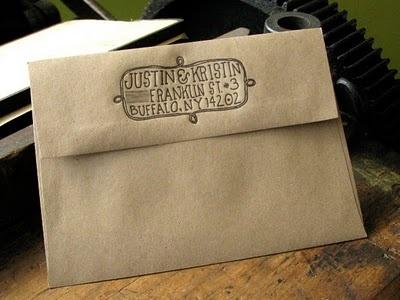 hand lettered envelope