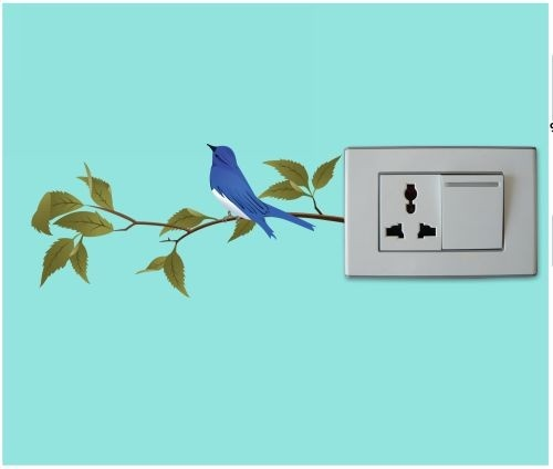A cute little bird has just made a nest on your switchboard!     Check out this lovely wall-sticker, only on http://www.gloob.in/decals/bird-on-the-branch.html