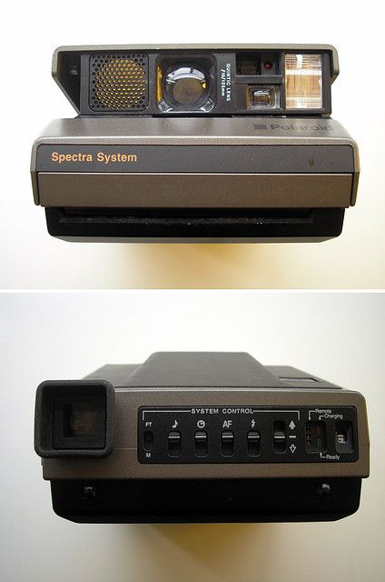 Polaroid Spectra. Still have my father's from the 80's.