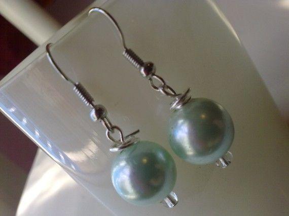pearl earrings by KaterinakiJewelry on Etsy