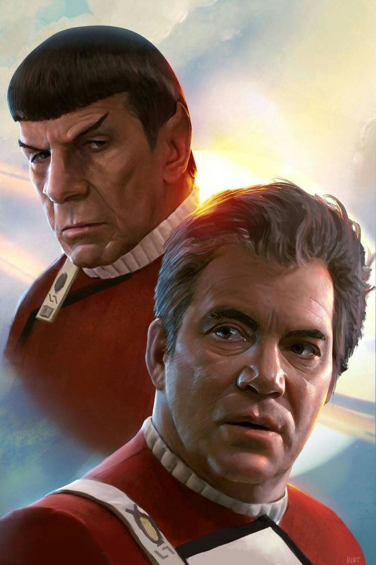 """""""Kirk and Spock"""" (2015) by Andrew Hunt."""
