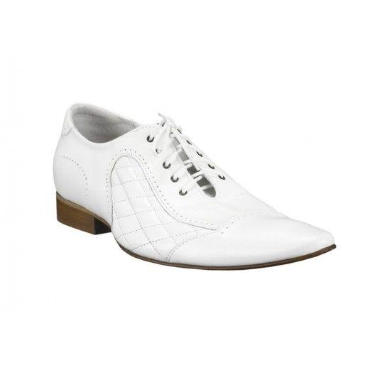 ea055f96bee Pánské kožené společenské boty bílé - manozo.cz