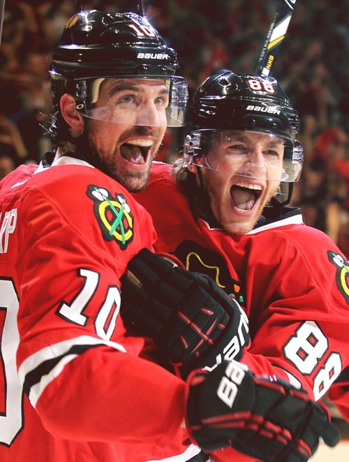 Patrick Sharp and Patrick Kane, Chicago Blackhawks