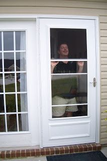 Not in time for the hurricane, but not too late either, the storm door was successfully installed today! And our only hurricane damage was a...