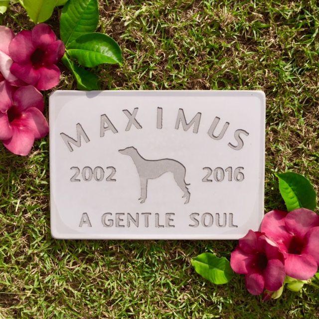 Greyhound gravestone.  Custom made by Memorial Markers in Australia.