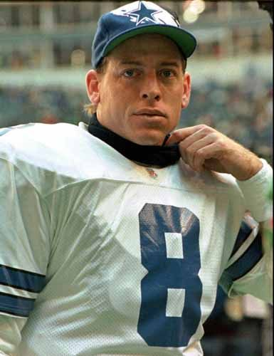 The Cowboys had the first draft pick in 1989, so they drafted Troy Aikman. He threw for 379 yards his rookie year, and got a NFL single-game rookie record.