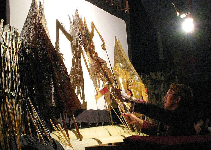 Indonesia Wayang Kulit Puppet Show