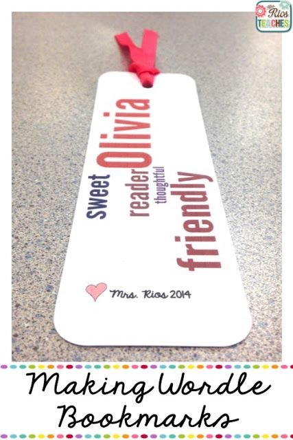 How to Make Wordle Bookmarks - great for end of the year gifts for students!