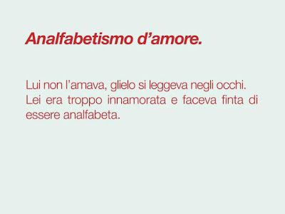 ANALFABETISMO D'AMORE